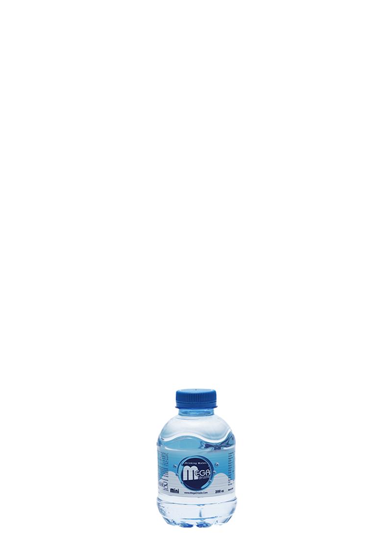 بطری آب معدنی دویست سی سی مگادریزل